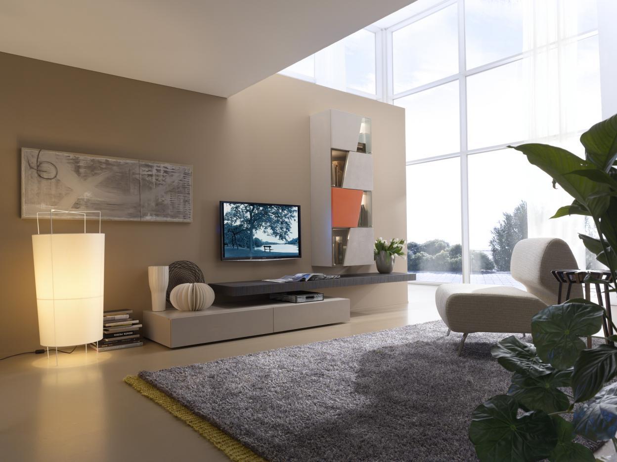 Sistema componibile giorno horizon mobilgam for Arredare parete